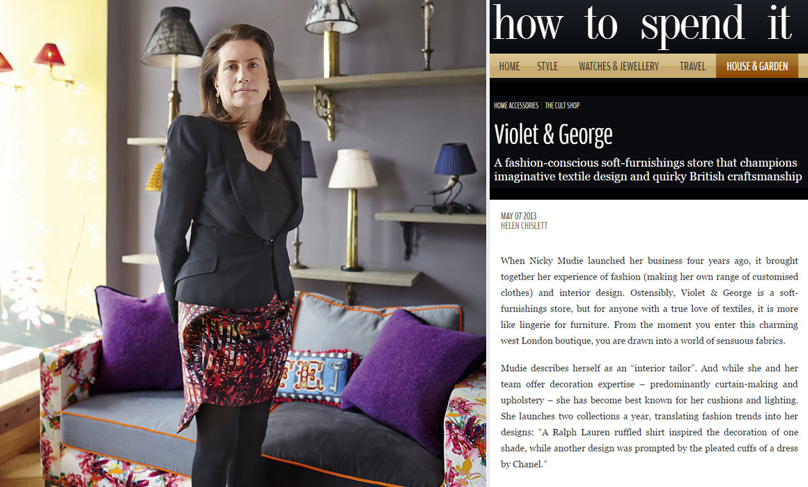 Luxury Interior Design Agency Violet & George featured in FT – How to Spend It