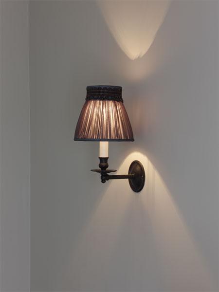 Bespoke pleated wall lamp