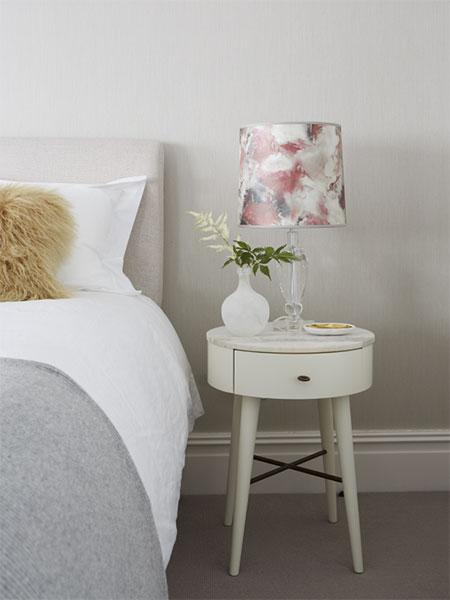 Bespoke bedside lampshade