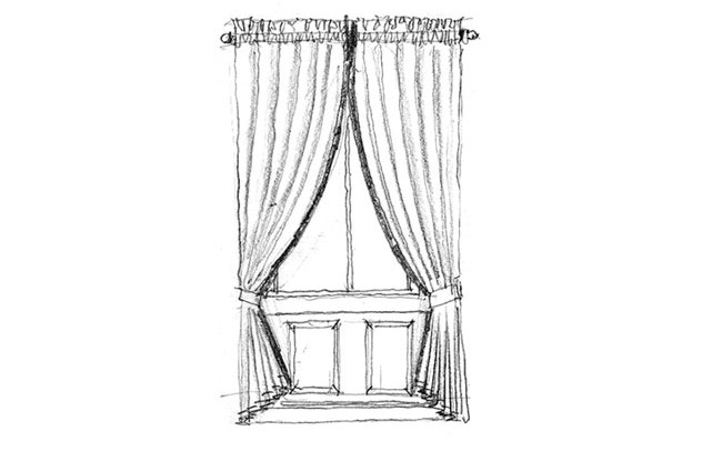 Made to Measure Curtains Dress curtains with heading gathered on a pole