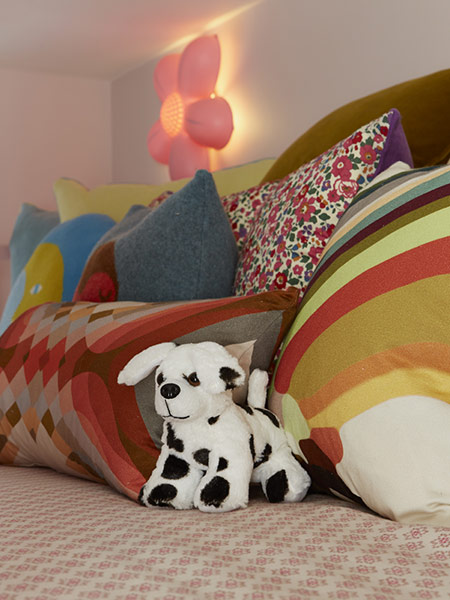 Cushions in various shapes and sizes